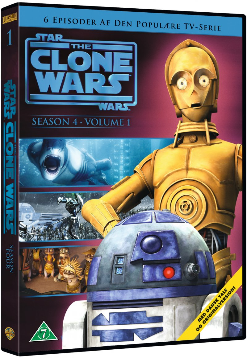 Billede af Star Wars: The Clone Wars - Sæson 4 Vol. 1 - DVD - Film