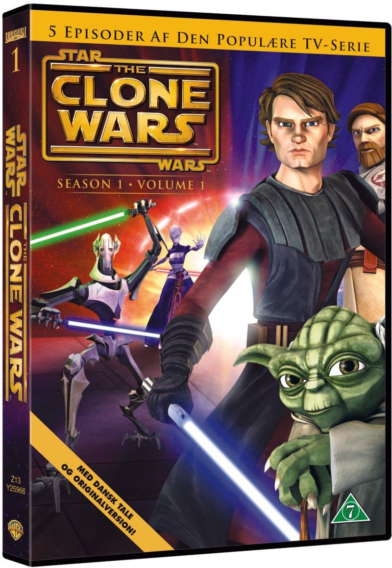 Billede af Star Wars - The Clone Wars - Sæson 1 Vol. 1 - DVD - Film