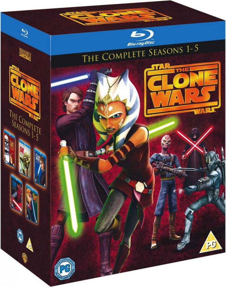 Image of   Star Wars: The Clone Wars - Sæson 1-5 - Blu-Ray