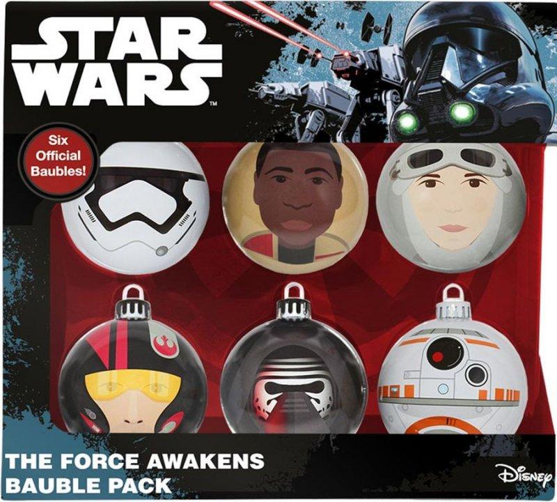 Image of   Star Wars Julekugler - The Force Awakens - 6 Stk.