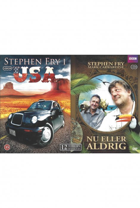 Image of   Stephen Fry I Usa / Stephen Fry - Nu Eller Aldrig - DVD - Tv-serie