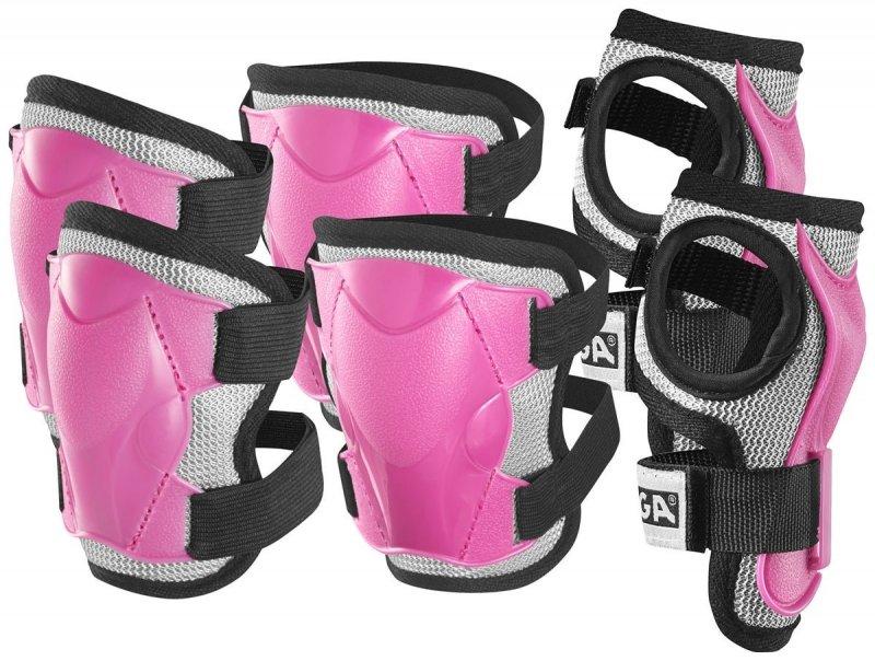 Stiga - Beskyttelsessæt - Pink S - 4-6 år