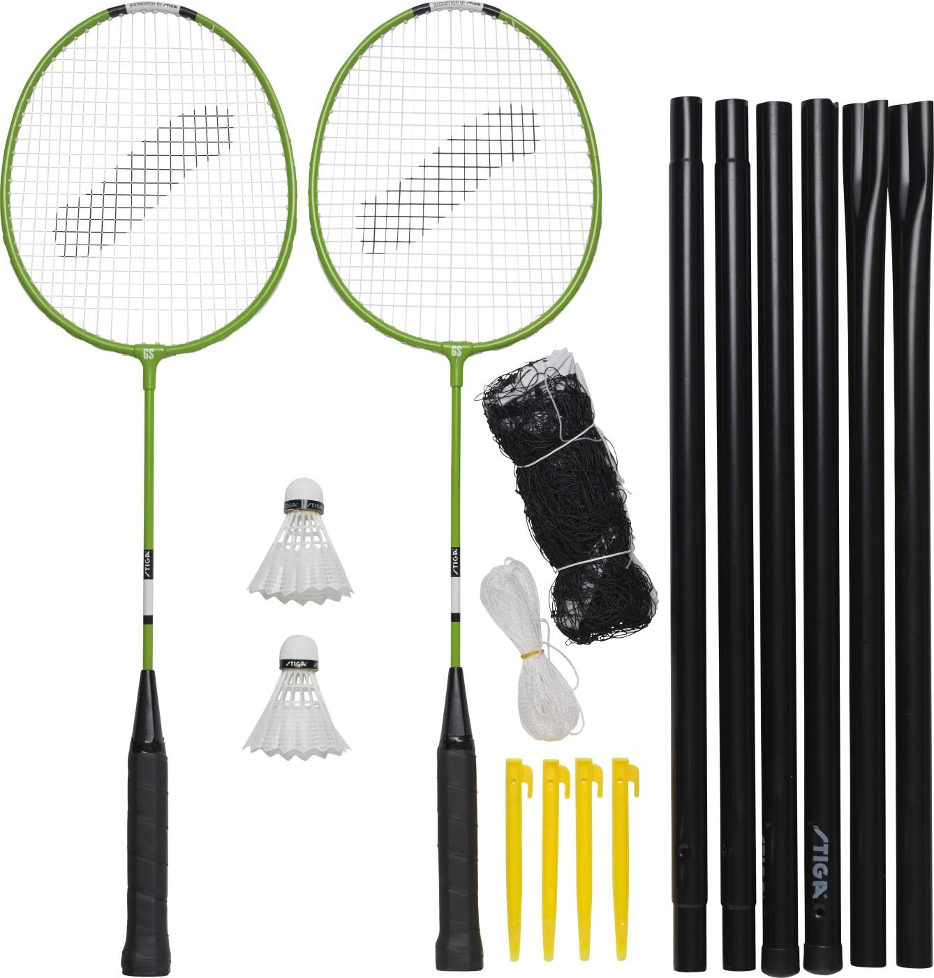 Stiga - Badminton Ketcher Sæt Inkl. Net - Garden Gs Sæt