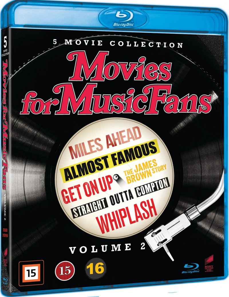 Image of   Straight Outta Compton // Whiplash // Almost Famous // Miles Ahead // Get On Up: The James Brown Story - Blu-Ray