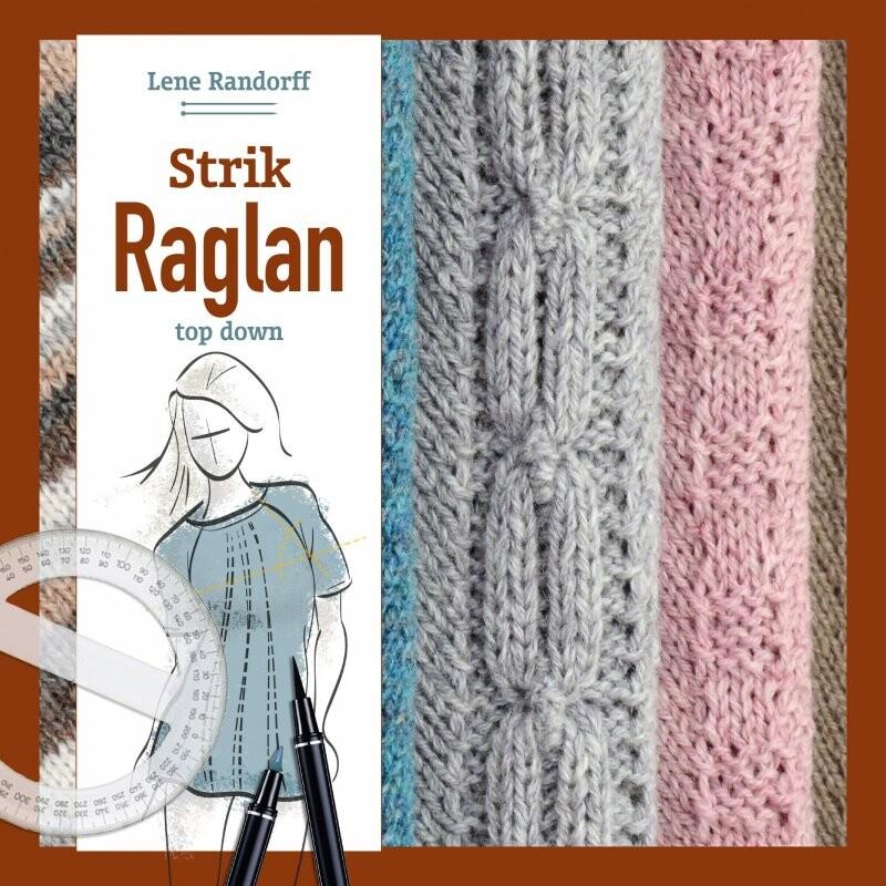 Image of   Strik Raglan - Top Down - Lene Randorff - Bog