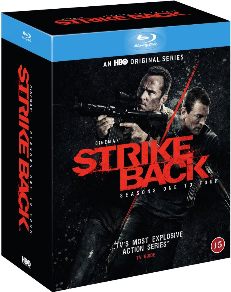 Strike Back - Sæson 1-4 - Hbo - Blu-Ray - Tv-serie