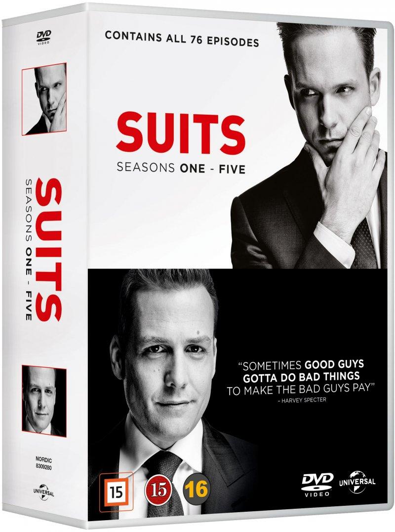 Suits - Sæson 1-5 - DVD - Tv-serie