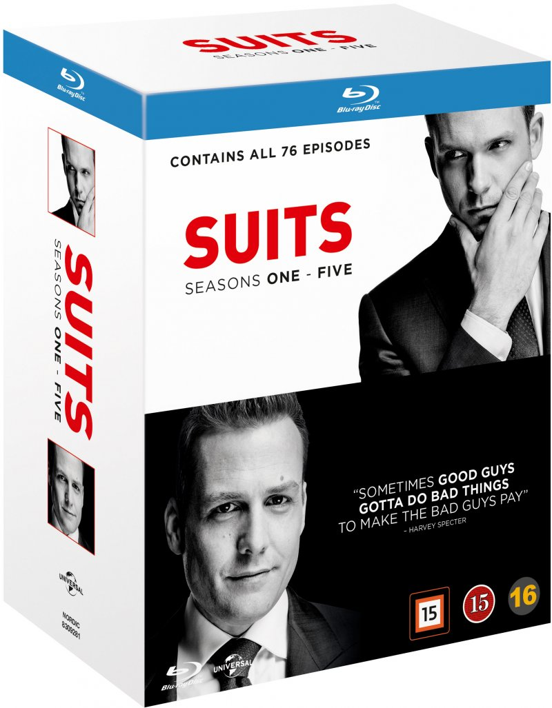 Suits - Sæson 1-5 - Blu-Ray - Tv-serie