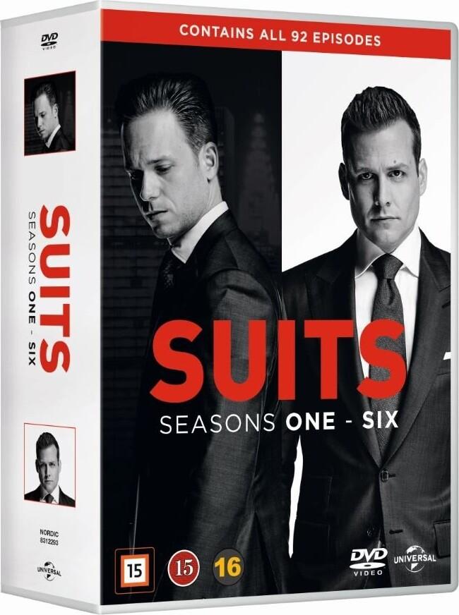 Suits - Sæson 1-6 - DVD - Tv-serie