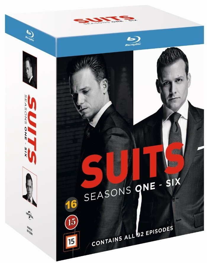 Suits - Sæson 1-6 - Blu-Ray - Tv-serie