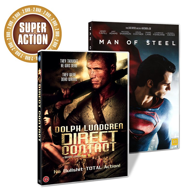 Image of   Direct Contact // Man Of Steel - DVD - Film
