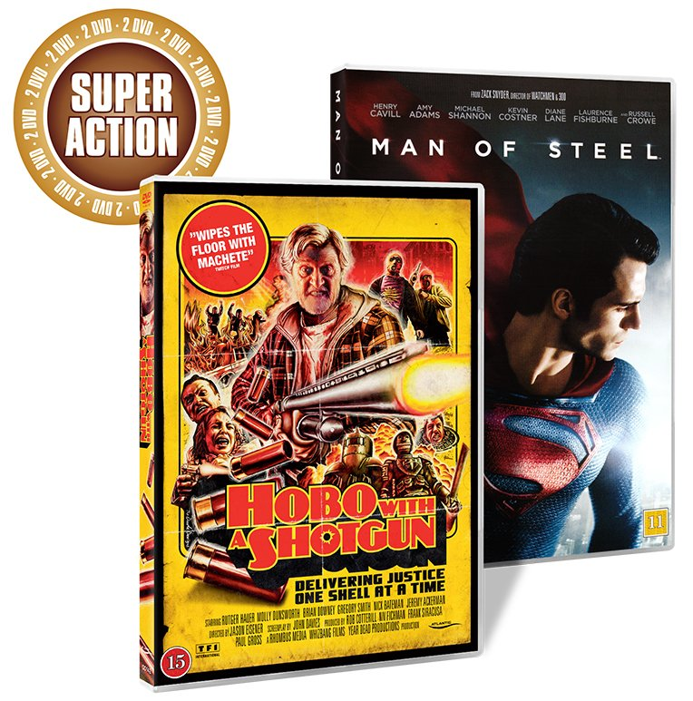Image of   Hobo With A Gun // Man Of Steel - DVD - Film