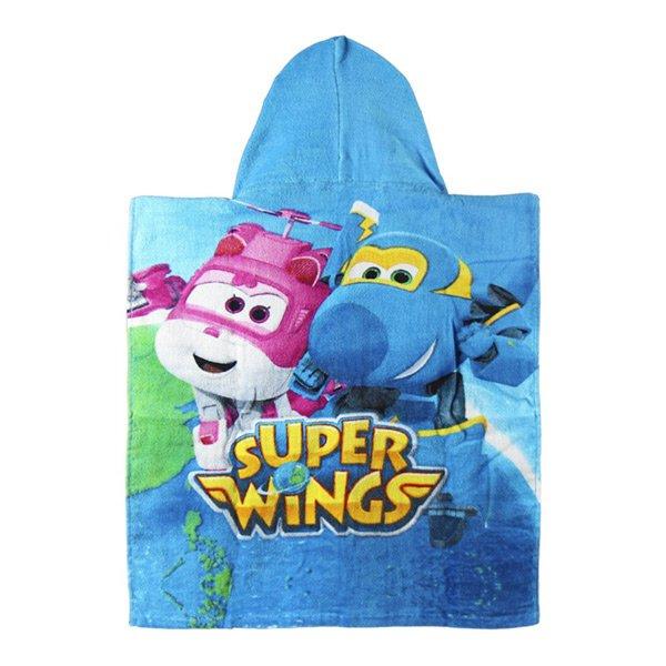 Image of   Super Wings - 2-i-1 Poncho Og Strandhåndklæde