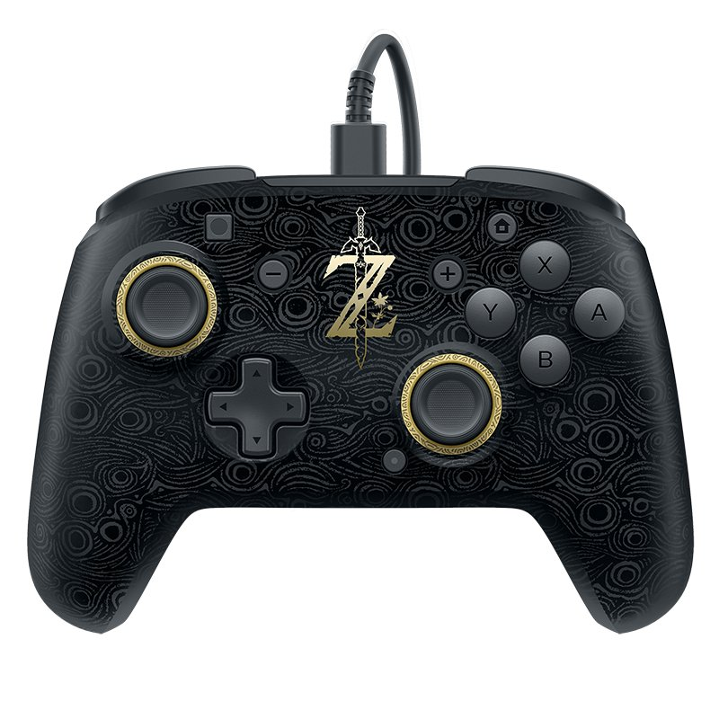 Image of   Wired Nintendo Switch Controller - Zelda Breath Of Wild