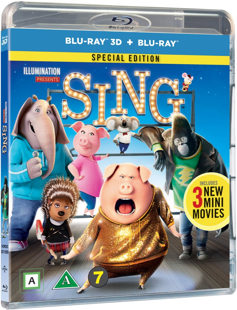 Image of   Syng / Sing Film - 2016 - 3D Blu-Ray