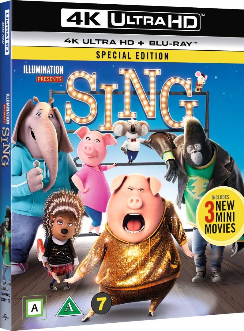 Image of   Syng / Sing Film - 2016 - 4K Blu-Ray