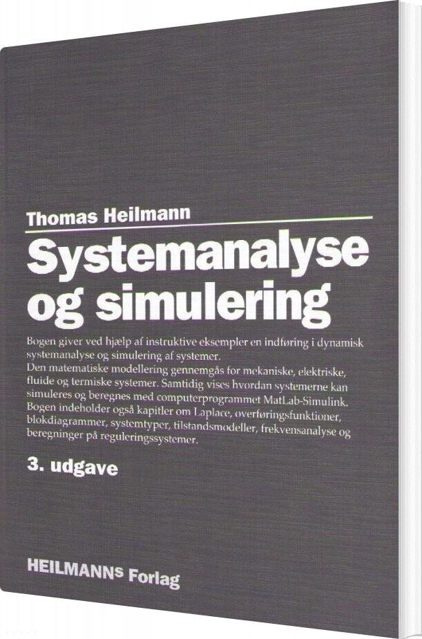Image of   Systemanalyse Og Simulering - Thomas Heilmann - Bog