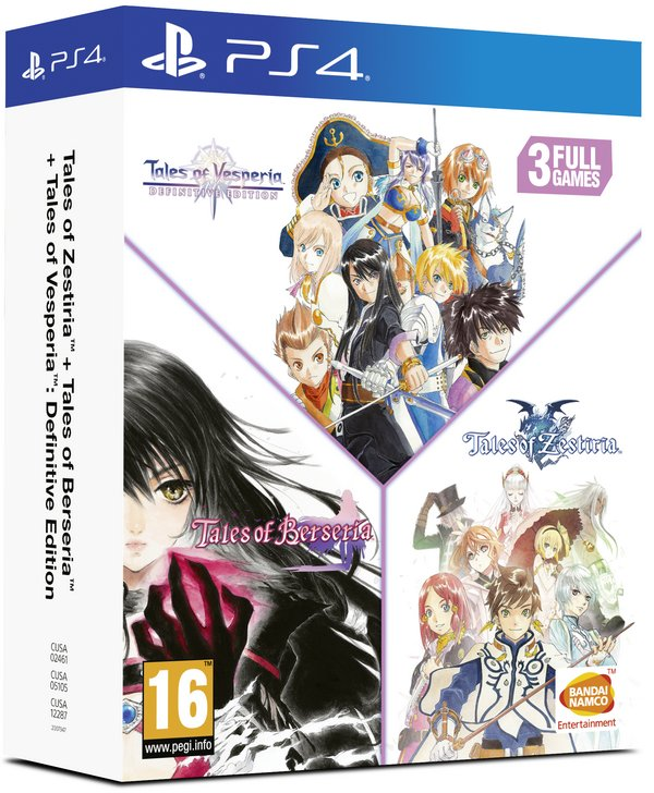 Image of   Tales Of Vesperia // Tales Of Berseria // Tales Of Zestiria - Compilation - PS4