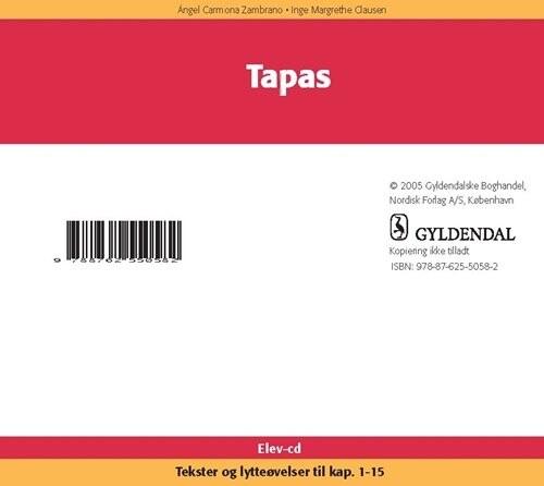Image of   Tapas Elevcd - Inge Margrethe Clausen - Bog