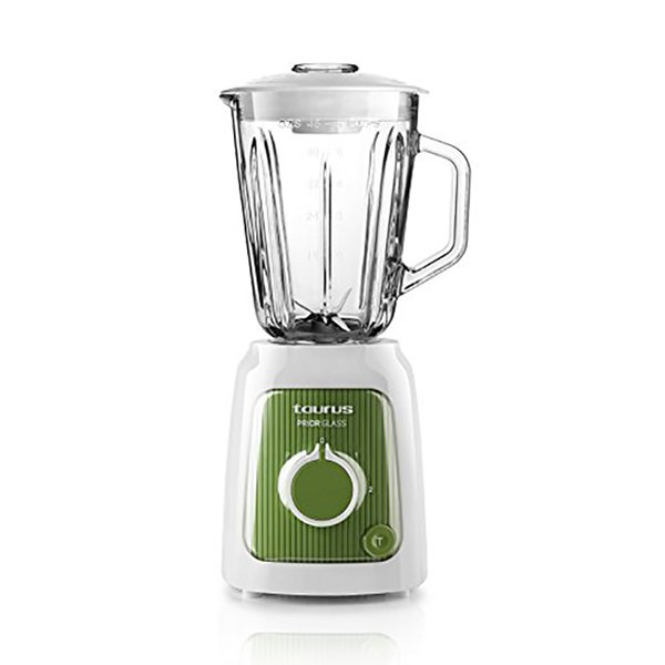 Image of   Taurus Kop Blender Prior Glass 1,5l 600w - Hvid Grøn