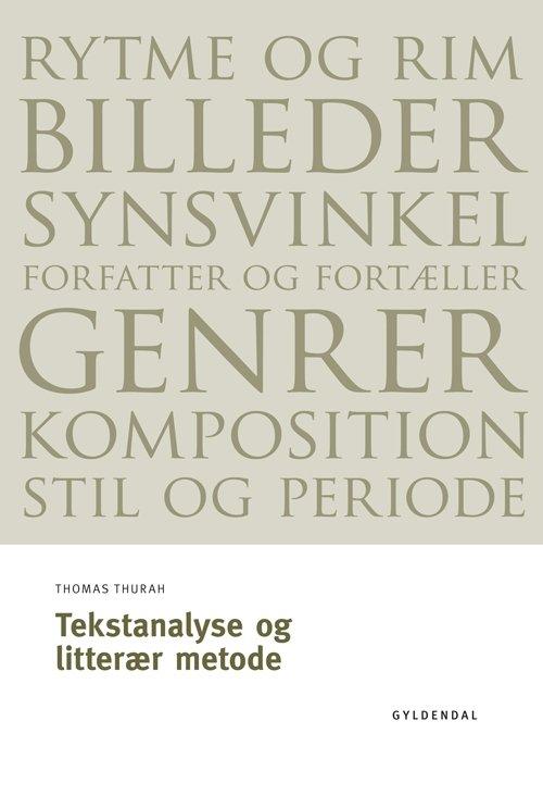 Image of   Tekstanalyse Og Litterær Metode - Thomas Thurah - Bog