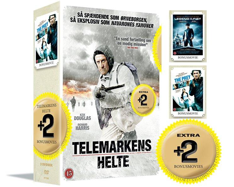 Billede af Telemarkens Helte // Legend Of The Fist // The Prey - DVD - Film