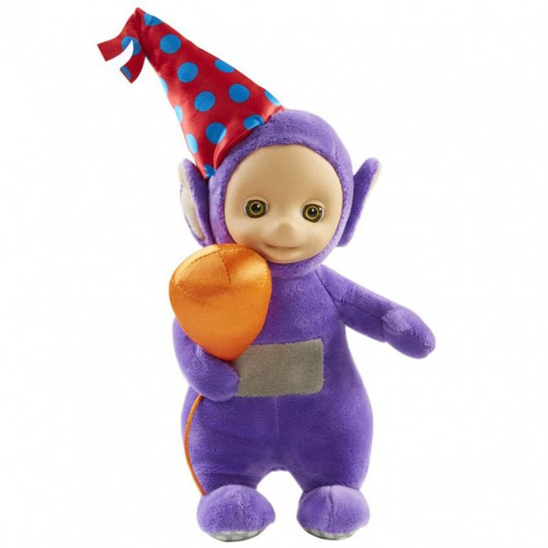 Image of   Teletubbies Party Bamse Med Lyd - Tinky Winky - 20 Cm