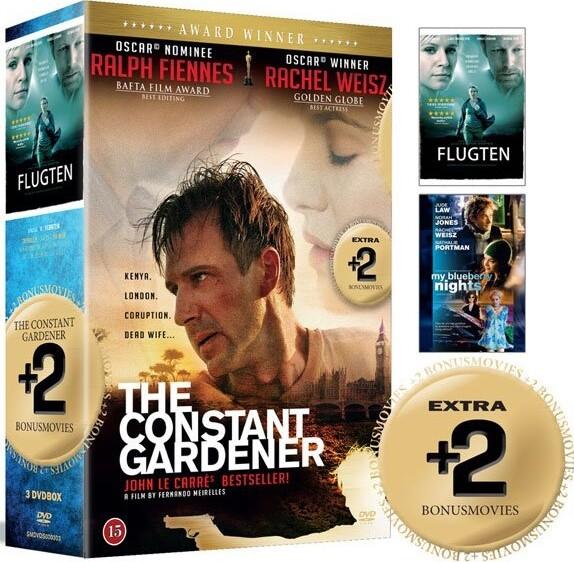 Image of   The Constant Gardener // Flugten // My Blueberry Nights - DVD - Film