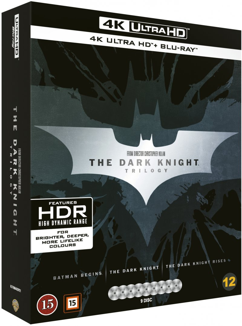 Image of   The Dark Knight Trilogy - 4K Blu-Ray