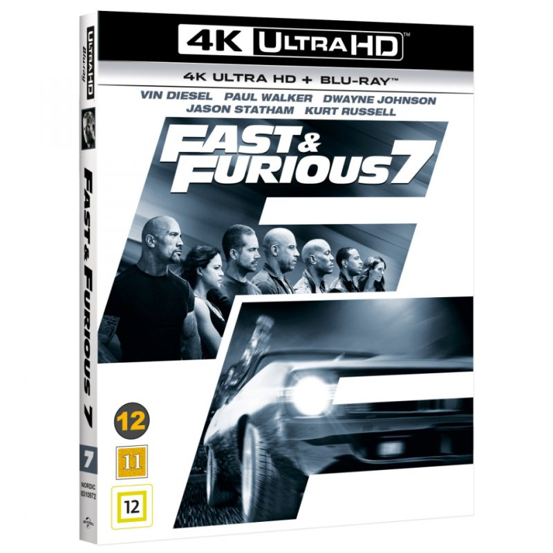 Image of   Fast And Furious 7 - 4K Blu-Ray