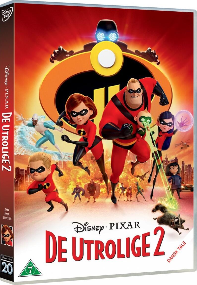 Image of   De Utrolige 2 / The Incredibles 2 - Disney Pixar - DVD - Film