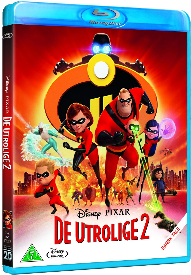 Image of   De Utrolige 2 / The Incredibles 2 - Disney Pixar - Blu-Ray