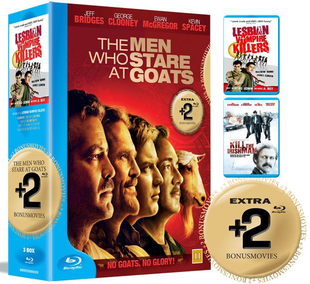 Image of   The Men Who Stare At Goats / Lesbian Vampire Killers / Kill The Irishman - Blu-Ray