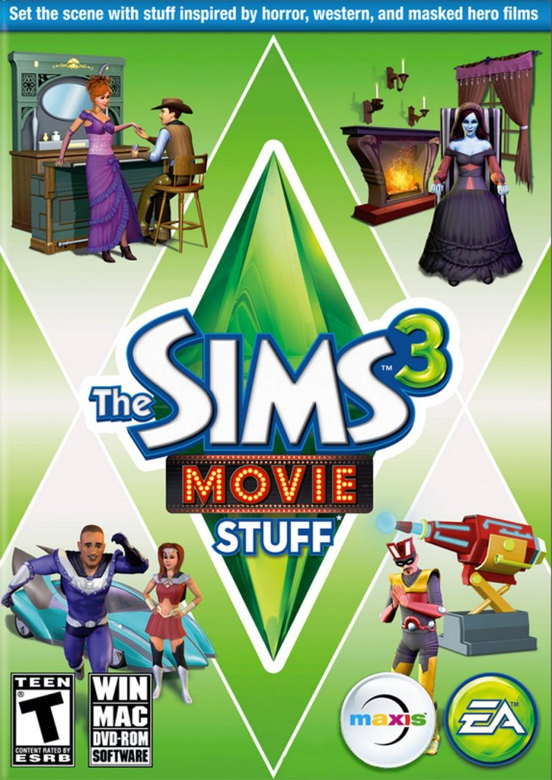 Image of   The Sims 3: Film Xtrapakke (dk) Movie Stuff - PC