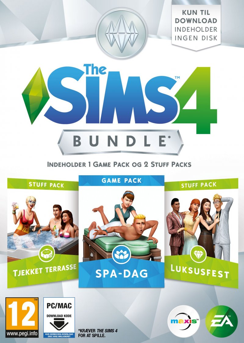 Image of   The Sims 4 - Spa Day Bundle (dk)(code In A Box) - PC