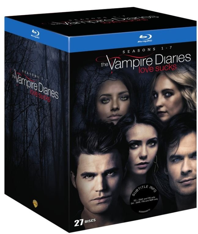 The Vampire Diaries Sæson 1-7 - Blu-Ray - Tv-serie