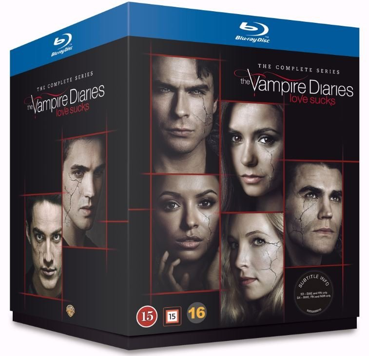 The Vampire Diaries - Sæson 1-8 - Blu-Ray - Tv-serie
