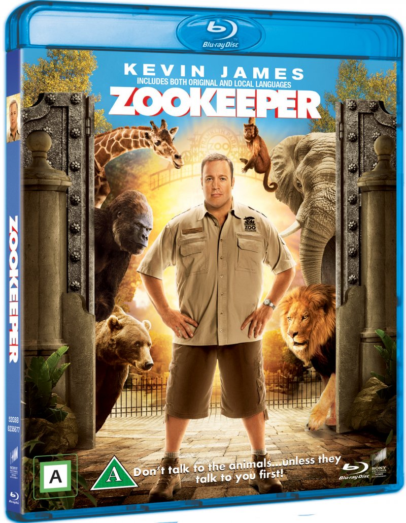 Image of   The Zookeeper - Dyrenes Helt - Blu-Ray