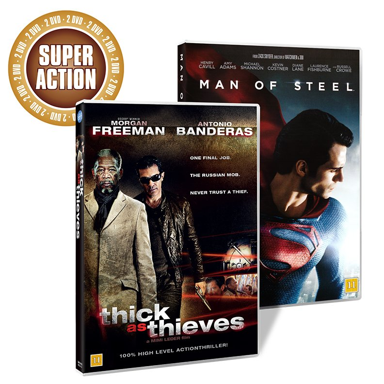 Image of   Man Of Steel // Thick As Thieves - DVD - Film