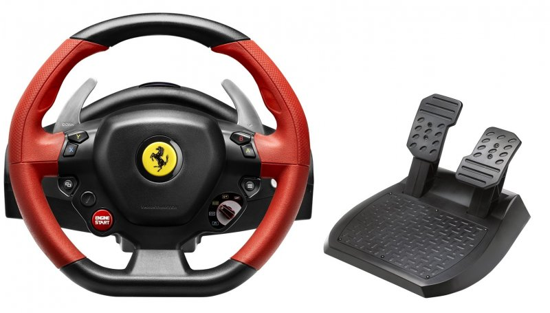 Image of   Thrustmaster Ferrari 458 Spider Racing Wheel - Rat Og Pedaler Til Xbox One