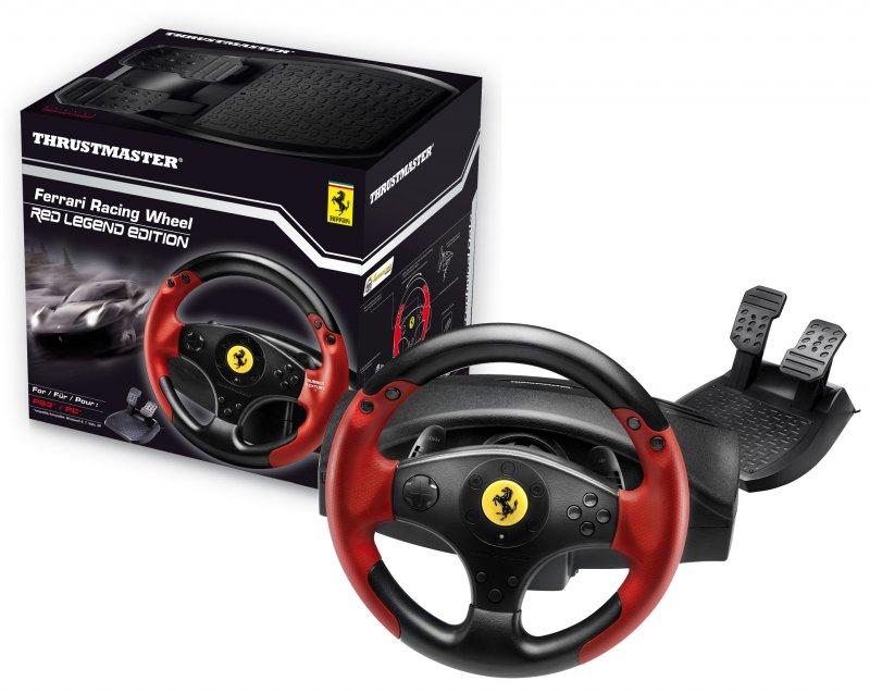 Billede af Thrustmaster Ferrari Racing Wheel Til Playstation 3 Og Pc - Red Legend Edition