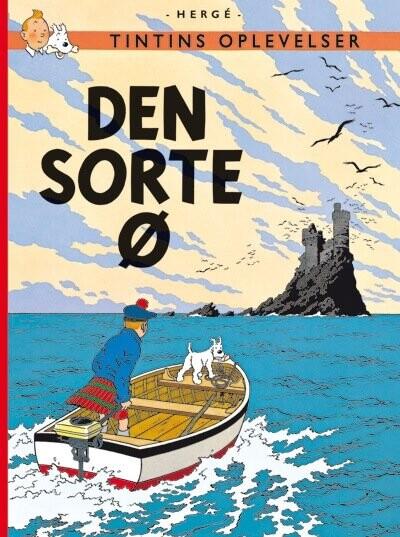 Image of   Tintins Oplevelser: Den Sorte ø -, Standardudgave Ny Oversættelse - Hergé - Tegneserie