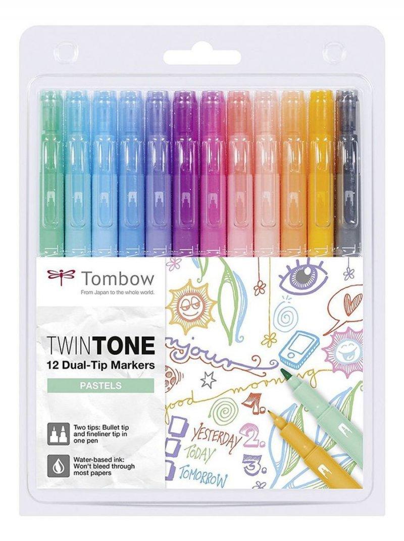 Tombow Tusser - Twintone I Pastelfarver