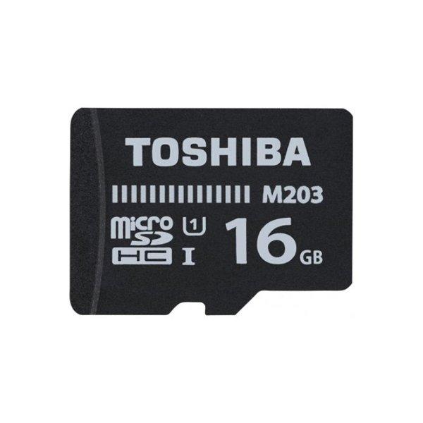 Image of   Toshiba Microsdhc Kort - 16gb 100mb/s - M203 - Class 10 Uhs-1