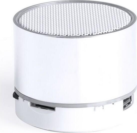 Trådløs Bluetooth Højtaler Med Fm Radio, Lys, Kortlæser Og Håndfri – Hvid