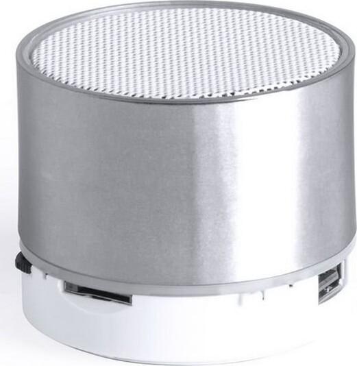 Trådløs Bluetooth Højtaler Med Fm Radio, Lys, Kortlæser Og Håndfri – Sølv