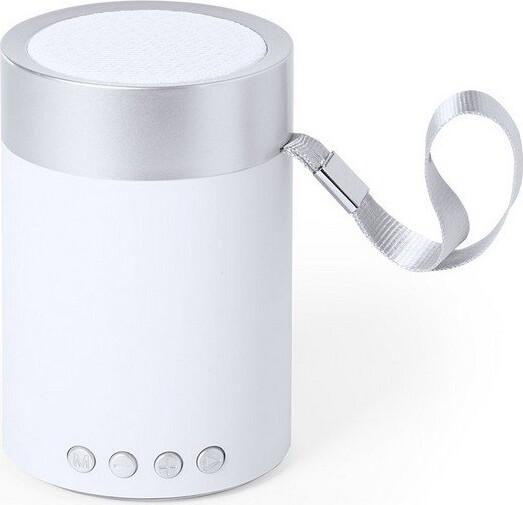 Trådløs Bluetooth Højtaler Med Fm Radio Og Kortlæser – Sølv Hvid