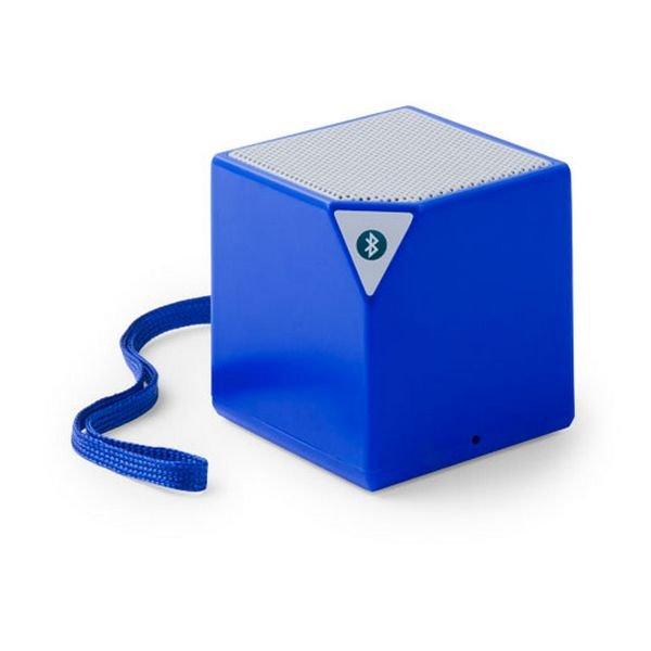 Trådløs Bluetooth Højtaler Med Jackstik – Firkantet – Blå