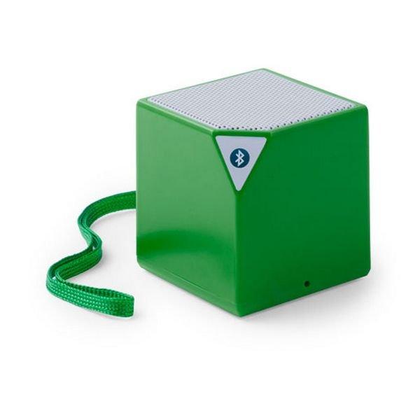 Trådløs Bluetooth Højtaler Med Jackstik – Firkantet – Grøn