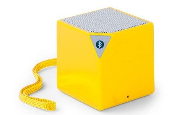 Trådløs Bluetooth Højtaler Med Jackstik – Firkantet – Gul
